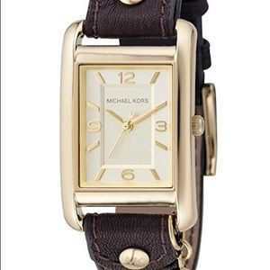 Michael Kors Leather Strap Watch. Brand New.